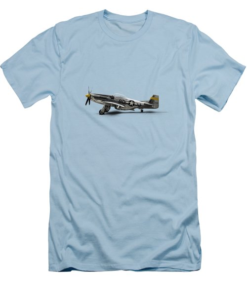 North American P-51 Mustang Men's T-Shirt (Slim Fit) by Douglas Pittman