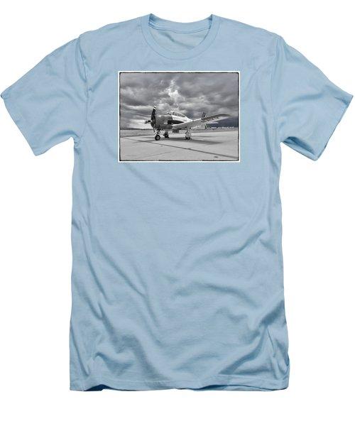 North American T-28 Men's T-Shirt (Slim Fit) by Douglas Castleman
