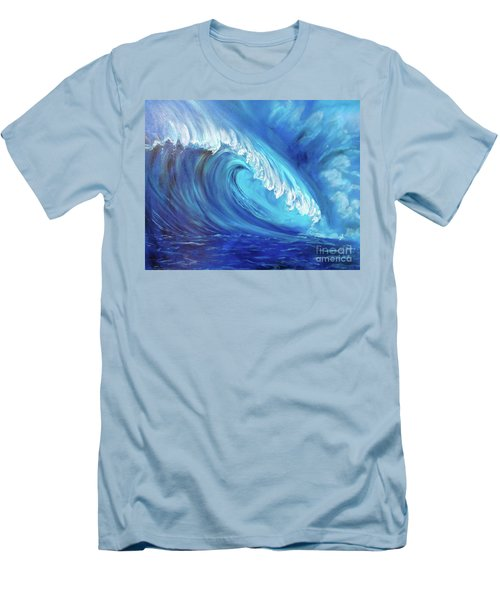 North Shore Wave Oahu 2 Men's T-Shirt (Athletic Fit)