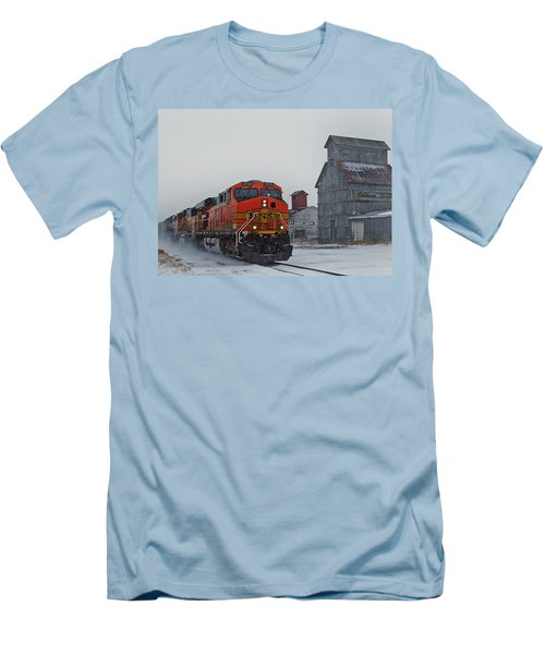 Northbound Winter Coal Drag Men's T-Shirt (Slim Fit) by Ken Smith