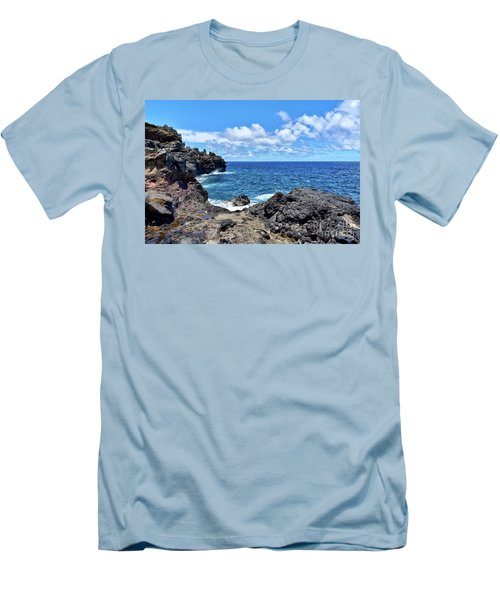 Northern Maui Rocky Coastline Men's T-Shirt (Athletic Fit)