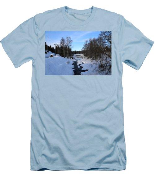 Norwegian Winter Landscape.  Men's T-Shirt (Athletic Fit)