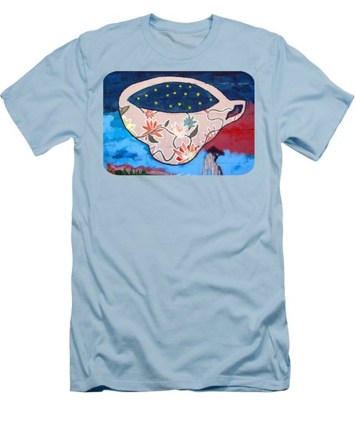 Men's T-Shirt (Slim Fit) featuring the photograph Not My Cup Of Tea by Ethna Gillespie