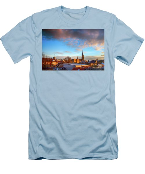 Novi Sad Roofs Lit By The Setting Sun Men's T-Shirt (Athletic Fit)