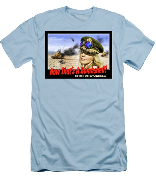 Now Thats A Bombshell Men's T-Shirt (Slim Fit) by Don Olea