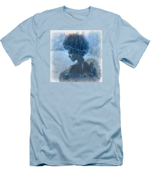 Nymph Of January Men's T-Shirt (Slim Fit) by Lilia D
