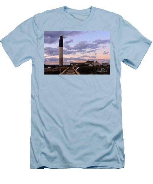 Oak Island Lighthouse Men's T-Shirt (Slim Fit) by Shelia Kempf