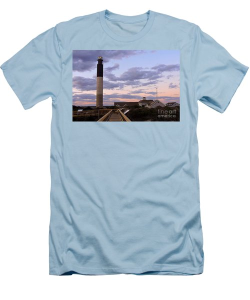 Oak Island Lighthouse Men's T-Shirt (Athletic Fit)