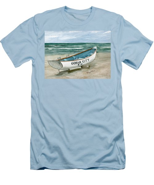 Ocean City Lifeguard Boat Men's T-Shirt (Athletic Fit)