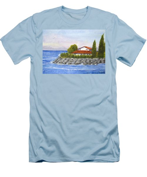 Ocean Scene  Men's T-Shirt (Athletic Fit)
