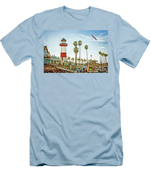 Oceanside Harbor Lighthouse Men's T-Shirt (Athletic Fit)