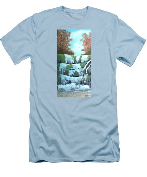 October Falls Men's T-Shirt (Slim Fit) by Brenda Bonfield