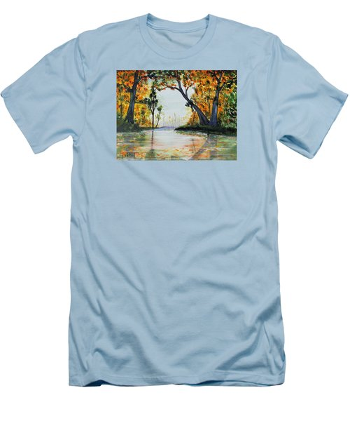 October Reflections Men's T-Shirt (Slim Fit) by Jack G  Brauer