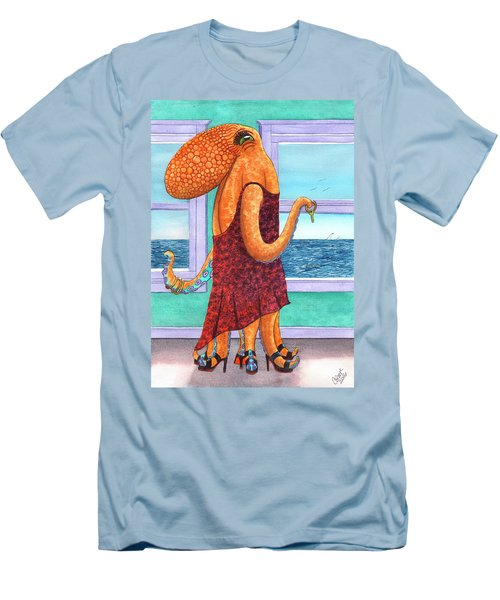 Octopus In A Cocktail Dress Men's T-Shirt (Athletic Fit)