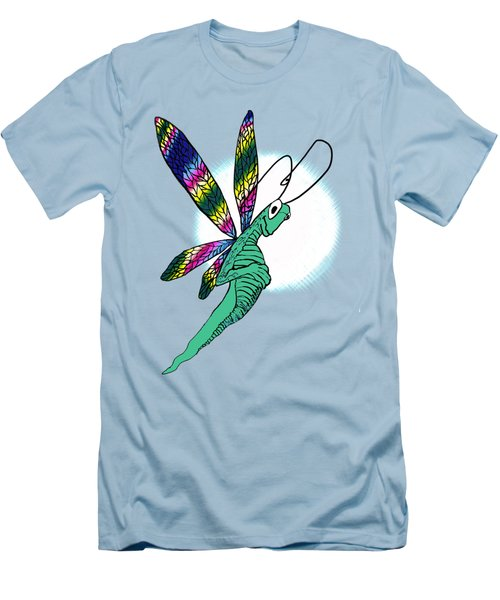Odd Dragonfly Men's T-Shirt (Slim Fit) by Adria Trail