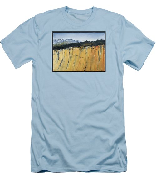 Of Bluff And Mountain Men's T-Shirt (Slim Fit) by Carolyn Doe