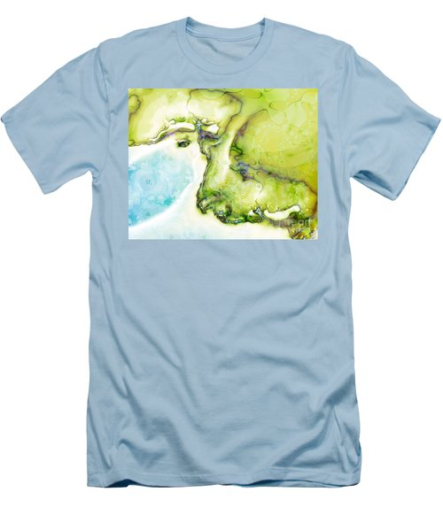 Men's T-Shirt (Slim Fit) featuring the digital art Of Earth And Water by Michelle H