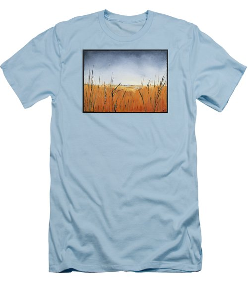 Of Grass And Seed Men's T-Shirt (Slim Fit) by Carolyn Doe