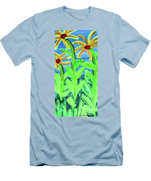 Oh Glorious Day Floral Men's T-Shirt (Athletic Fit)