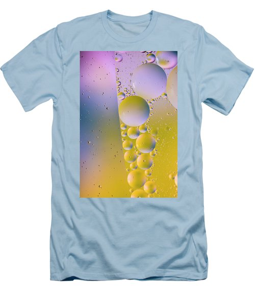 Men's T-Shirt (Athletic Fit) featuring the photograph Oil In Water by Kevin Blackburn