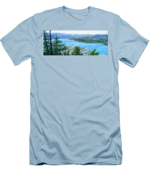 Okanagan Blue Men's T-Shirt (Athletic Fit)