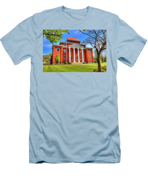 Old Ashe Courthouse Men's T-Shirt (Slim Fit) by Dale R Carlson