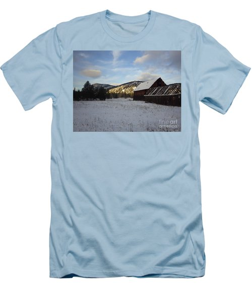 Men's T-Shirt (Slim Fit) featuring the photograph Old Barn 2 by Victor K