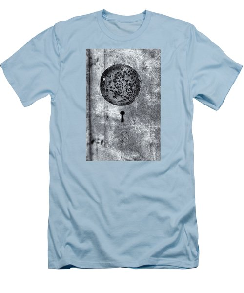 Men's T-Shirt (Slim Fit) featuring the photograph Old Doorknob by Tom Singleton