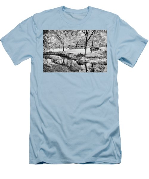 Men's T-Shirt (Slim Fit) featuring the photograph Old Frontier House by Paul W Faust - Impressions of Light