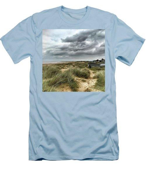 Old Hunstanton Beach, North #norfolk Men's T-Shirt (Slim Fit) by John Edwards