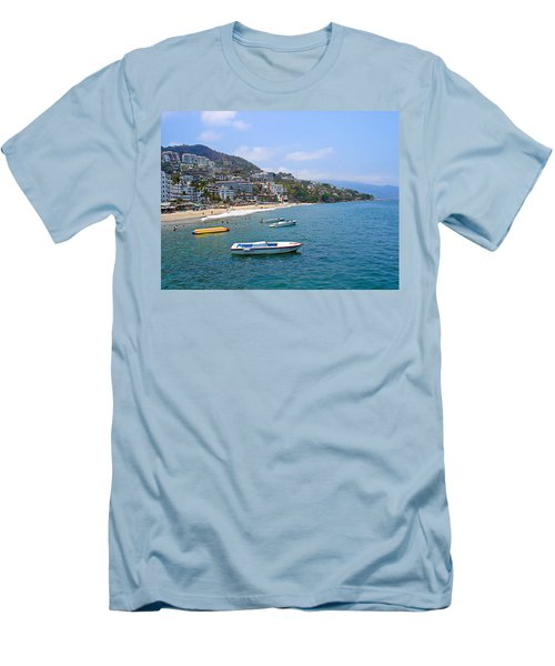 Old Puerto Vallarta  Men's T-Shirt (Athletic Fit)