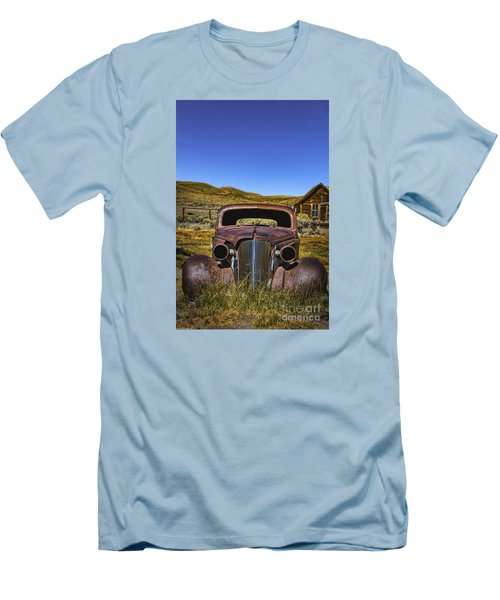 Men's T-Shirt (Slim Fit) featuring the photograph Old Rusty by Mitch Shindelbower