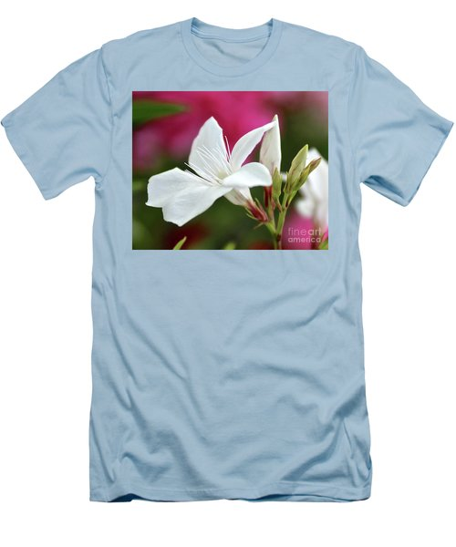 Men's T-Shirt (Slim Fit) featuring the photograph Oleander Casablanca 2 by Wilhelm Hufnagl