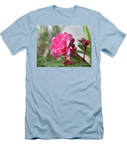 Men's T-Shirt (Slim Fit) featuring the photograph Oleander Splendens Giganteum 4 by Wilhelm Hufnagl