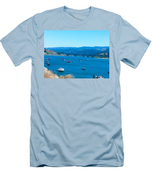 On Board For Fun  Men's T-Shirt (Slim Fit)