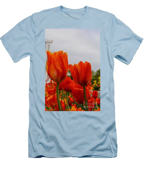 Men's T-Shirt (Slim Fit) featuring the photograph On Fire by Robert Pearson