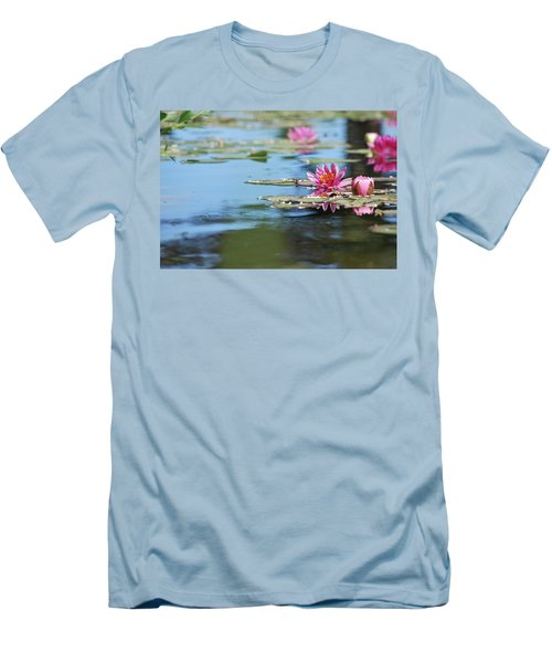 Men's T-Shirt (Athletic Fit) featuring the photograph On The Pond by Amee Cave