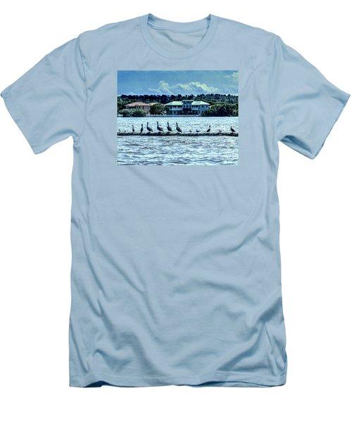 On The Water Men's T-Shirt (Slim Fit) by Ken Frischkorn