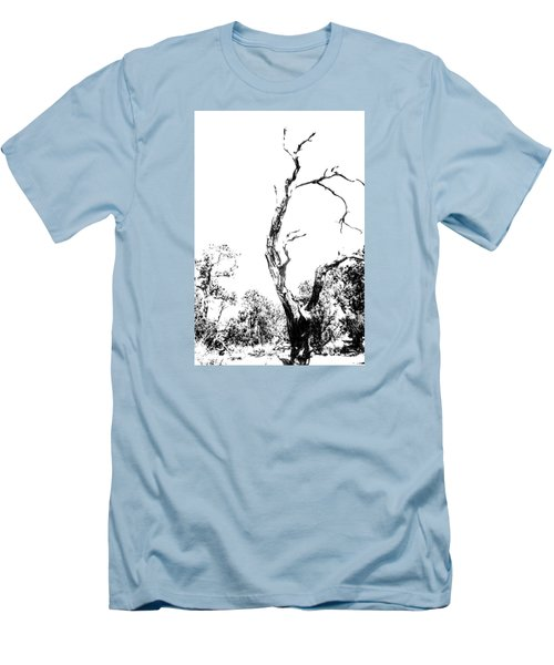 Men's T-Shirt (Slim Fit) featuring the photograph One Tree - 0192 by G L Sarti
