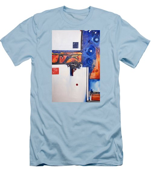 Orange And Blue Men's T-Shirt (Athletic Fit)