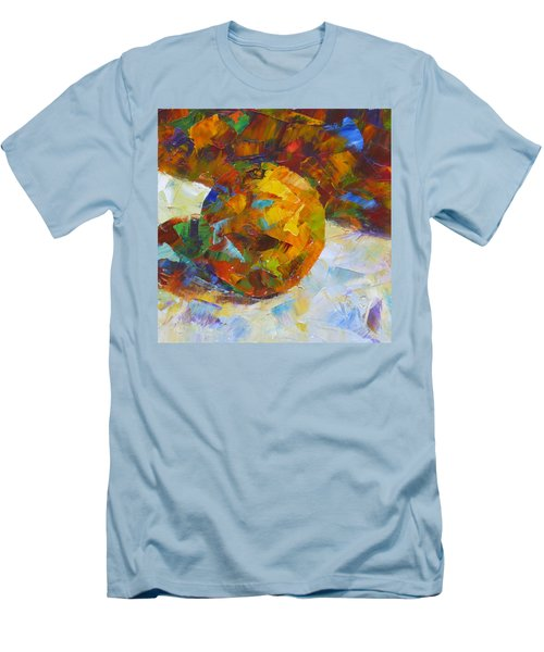 Orange Flash Men's T-Shirt (Slim Fit) by Susan Woodward
