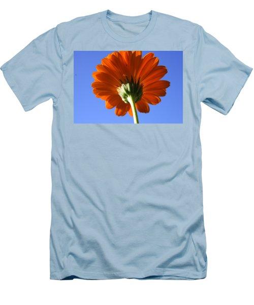 Orange Gerbera Flower Men's T-Shirt (Slim Fit) by Ralph A  Ledergerber-Photography