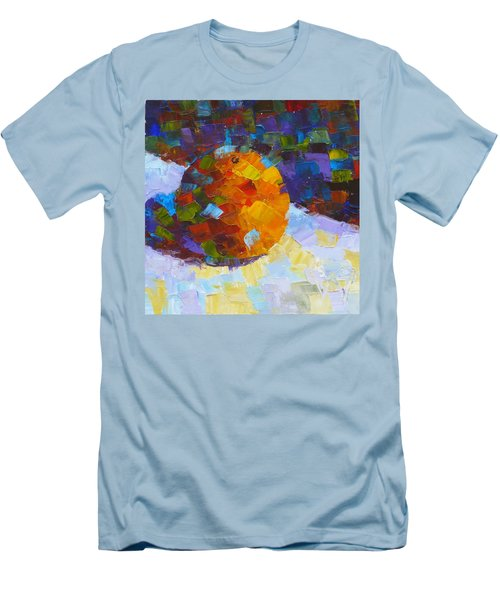 Orange Mosaic #3 Men's T-Shirt (Slim Fit) by Susan Woodward