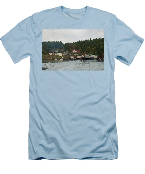 Orcas Island Dock Digital Men's T-Shirt (Athletic Fit)