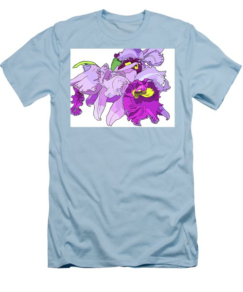 Orchid Cluster Men's T-Shirt (Slim Fit) by Jamie Downs
