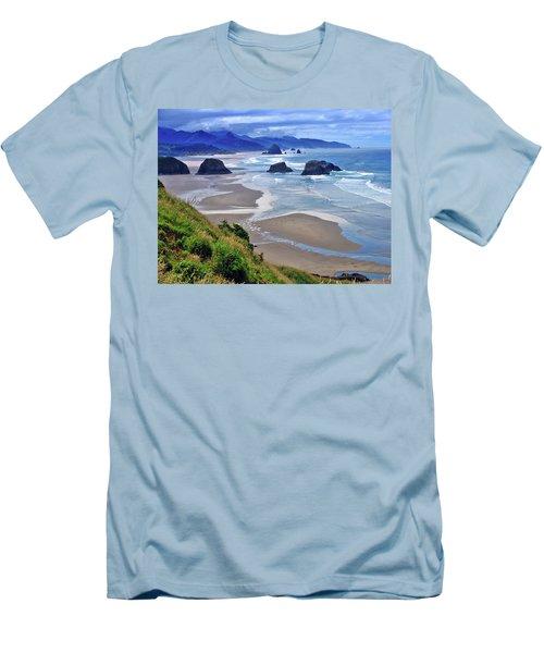 Oregon Coast Men's T-Shirt (Slim Fit) by Scott Mahon