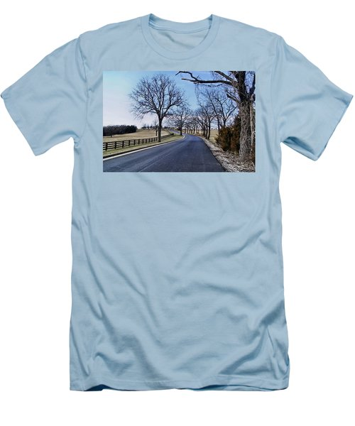 Men's T-Shirt (Slim Fit) featuring the photograph Osage County Road by Cricket Hackmann