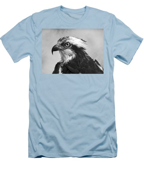 Osprey Monochrome Portrait Men's T-Shirt (Slim Fit) by Chris Flees