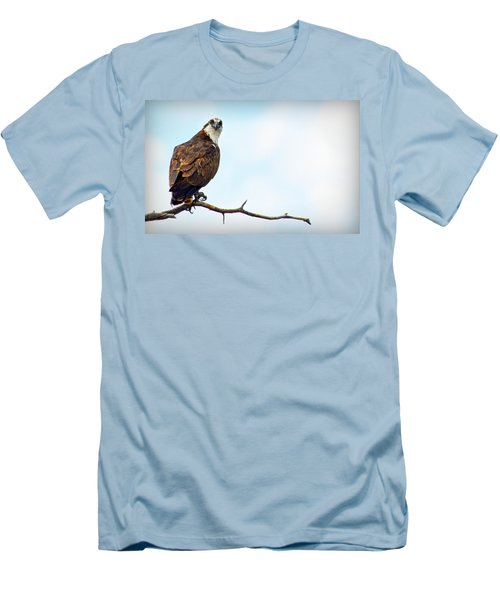 Men's T-Shirt (Athletic Fit) featuring the photograph Osprey Out On A Limb by AJ Schibig