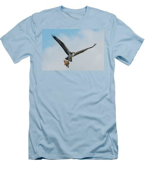 Osprey With Rainbow Bass 1 Men's T-Shirt (Athletic Fit)